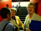 Angry members of the Women's Institute walk out of their conference due to Tony Blair's speech