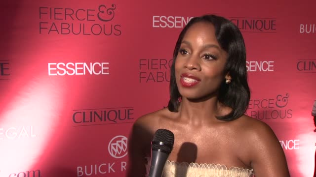 Anika Noni Rose talks about what Essence has meant to her over her lifetime at the Essence Magazine 40th Anniversary Fierce Fabulous Awards Luncheon...