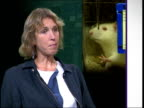 Animal testing/ Declaration of support by Defence Research Society Dr Sophie PetitZeman interviewed SOT Can't by law in this country use animals if...