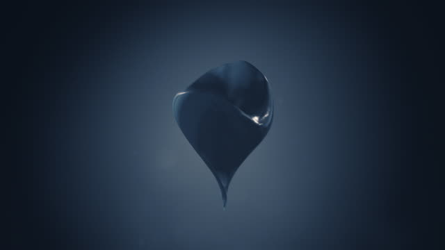 Animated 3D shape on ominous Background