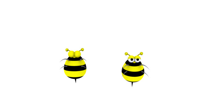 3D Animated Bumble Bees Flying In and Out