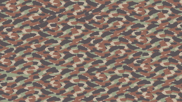 Animated Camouflage pattern in small print