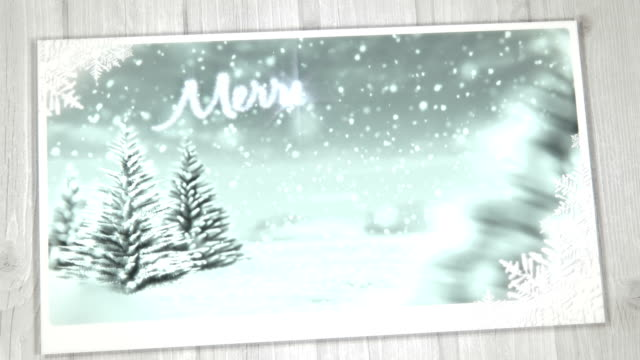 Animated Christmas Card (Red) - Copy Space, Loopable