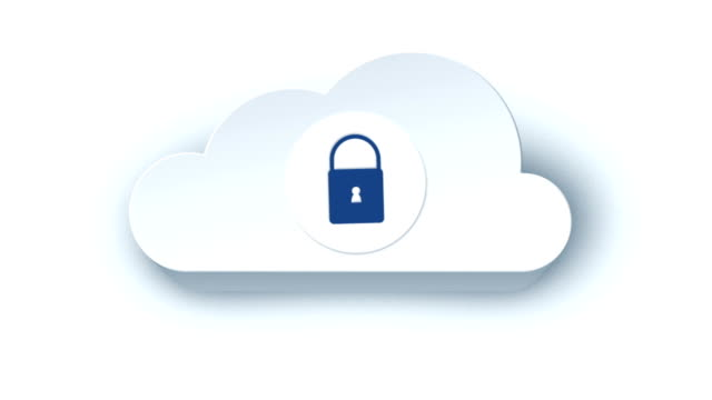 Animated cloud icon 2. White version.
