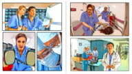 Animated comic book of emergency medical care