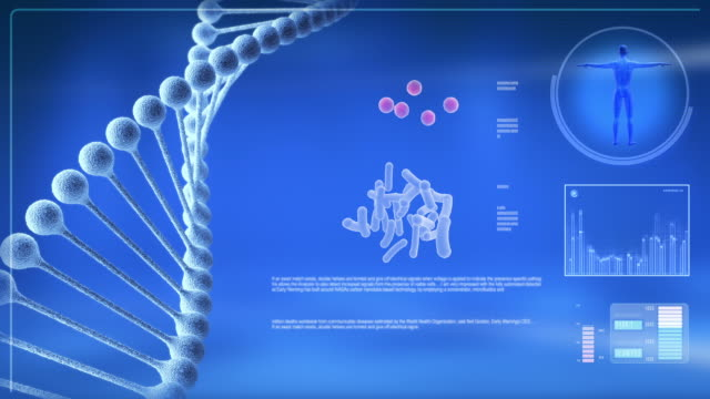 Animated DNA chain for computer screen.