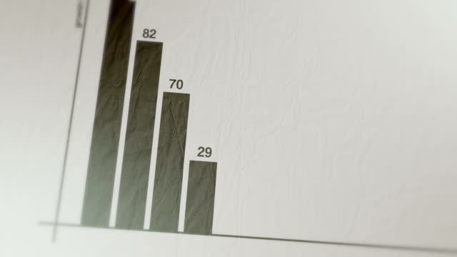 Animated graph and chart on paper
