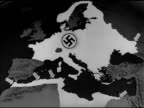 MAP Animated map highlighting Nazi Germany Occupied Territories territory arrows in Mediterranean Basin at Morocco Algeria Tunisia Egypt Allied...