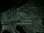 MAP Animated map showing division of land after 1918 Czechoslovakia Poland Hungary Rumania Yugoslavia borders divided from Germany Russia...