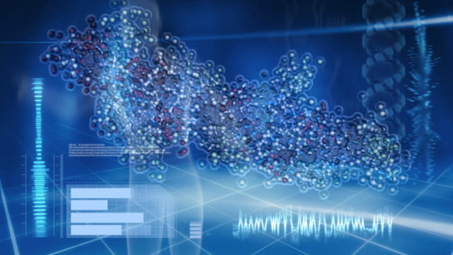 Animated molecules DNA for computer screen.
