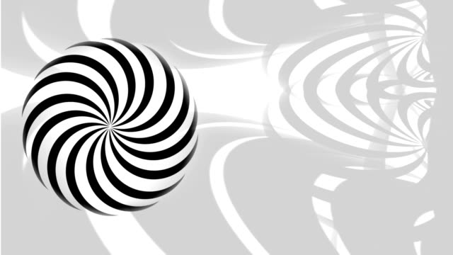 Animated Monochrome Hypnotic Circle as an Op-Art Background