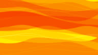 Animated Smoothing Lines in Orange and Yellow as a Background