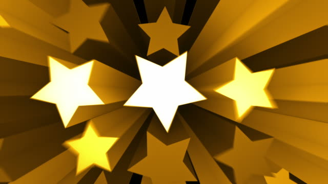 Animated Stars Background Loop - Golden Yellow (Full HD)