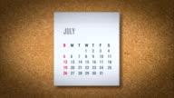 Animazione volante di calendario-alfa mappa
