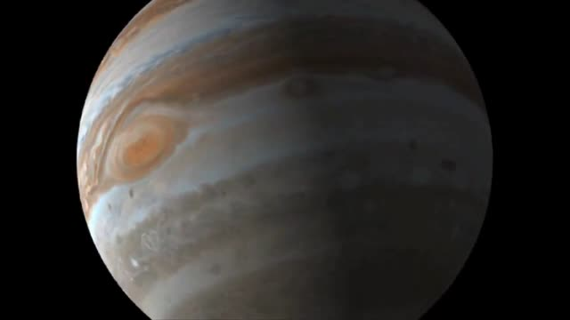 Animation depicting how Jupiter will appear to the camera onboard NASA's Juno spacecraft mission called JunoCam as the spacecraft goes through an...