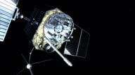 Animation of GPS (Global Positioning System) satellite orbiting the Earth. The GPS satellites transmit signals to the surface that allow GPS receivers to pinpoint their exact location