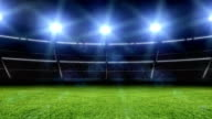 Animation of stadium with lights and flashes