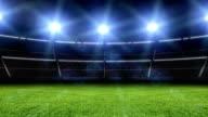 Animazione di stadium con luci e lampeggia