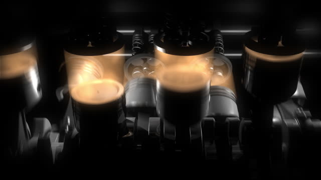 Animation of working v8 engine Inside.