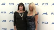 Anjelica Huston and Pamela Anderson at PETA Celebrates 35th Anniversary With Sir Paul McCartney at Hollywood Palladium on September 30 2015 in Los...