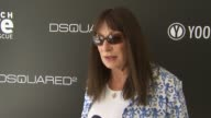 Anjelica Huston on being a part of the afternoon what she thinks of DSquared2's new canine couture line her dog how she named her dog her daily...