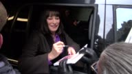 Anjelica Huston signs for fans Live with Kelly 03/02/12 in Celebrity Sightings in New York
