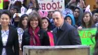 Ann Curry Sarah Palin Matt Lauer on the outside set of the Today show 04/03/12 Ann Curry Sarah Palin Matt Lauer on the outside on April 03 2012 in...