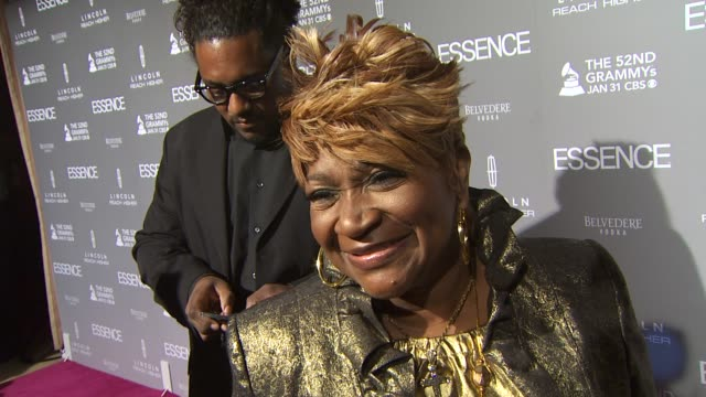 Ann Nesby on Mary J Blige and on why Essence Magazine is so important at the ESSENCE Black Women In Music Honoring Mary J Blige at West Hollywood CA