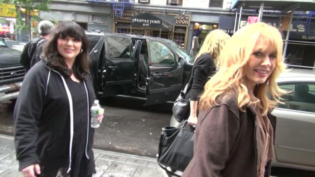 Ann Wilson and Nancy Wilson outside the 'Good Day New York' studio in New York NY on 09/18/12