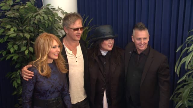 Ann Wilson Nancy Wilson Mike McCready Jerry Cantrell at 28th Annual Rock and Roll Hall Of Fame Induction Ceremony Arrivals 4/18/2013 in Los Angeles CA