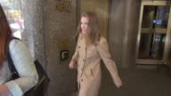 Anna Chlumsky leaving NBC Studios in Celebrity Sightings in New York