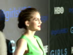 Anna Chlumsky posing for paparazzi on the red carpet at the NYU Skirball Center