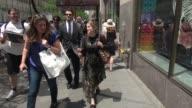 Anna Chlumsky walking outside of NBC Studios in Rockefeller Center in Celebrity Sightings in New York