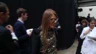 BROLL Anna Dello Russo Renzo Rosso Arianna Alessi Stefano Tonchi Suzy Menkes at Paris Haute Couture Maison Martin Margiela on July 3 2013 in Paris...