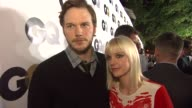 Anna Faris Chris Pratt on what they wanted to come out what MOTY she would give her husband and what flavor of ice cream they would be at the GQ's...