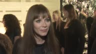 Anna Friel on attending tonight's event on the appeal of Burberry and on her favorite Burberry piece at the Burberry Beverly Hills store reopening at...