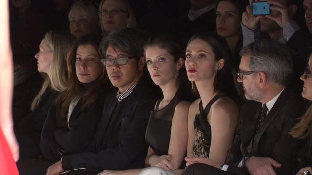 Anna Kendrick and Emmy Rossum attend the Carolina Herrera show Fall 2014 MercedesBenz Fashion Week at The Theatre at Lincoln Center on February 10...