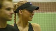 Anna Kournikova and Andy Roddick at the Advanta Presents WTT Smash Hits Celebrity Tennis Tournament at Bren Center University of Irvine in Irvine...