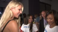 Anna Kournikova and guests at the KSwiss Kicks Off Open Week Fever With 'Play Nice' Runway Show Party at New York NY