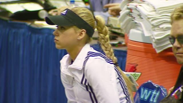 Anna Kournikova and Sir Elton John at the Advanta Presents WTT Smash Hits Celebrity Tennis Tournament at Bren Center University of Irvine in Irvine...