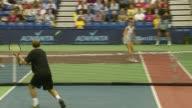 Anna Kournikova Andy Roddick and Rennae Stubbs at the Advanta Presents WTT Smash Hits Celebrity Tennis Tournament at Bren Center University of Irvine...