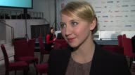 Anna Maria M»he on who she would like to work with at Shooting Star Interview 62nd International Film Festival 2012 at Sony Centre on February 13...