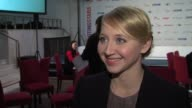 Anna Maria Muhe on being in Berlin at Shooting Star Interview 62nd International Film Festival 2012 at Sony Centre on February 13 2012 in Berlin...