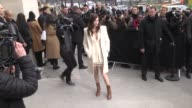 Anna Mouglalis arrives at the Chanel Haute Couture Spring Summer 2017 show as part of Paris Fashion Week on January 24 2017 in Paris France