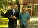 ten people detained ENGLAND EXT Setup reporter and Goldfarb walking Alexander Goldfarb interview SOT