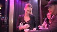 Anna Torv Rebecca Mader greet fans departing Catch Me If You Can in Hollywood 03/13/13