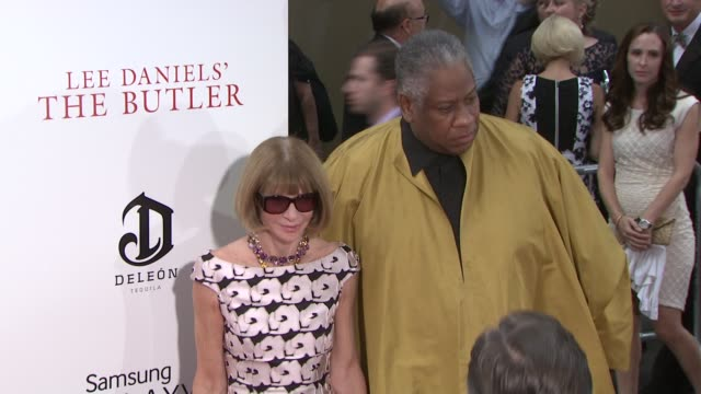 Anna Wintour and Andre Leon Talley at 'The Butler' New York Premiere in New York NY on 8/5/13