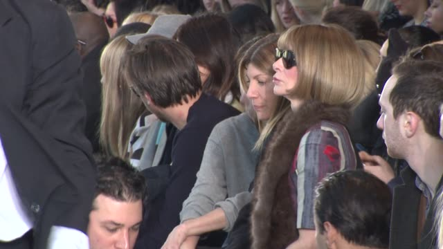 Anna Wintour and attendees Tory Burch Fall 2014 MercedesBenz Fashion Week at Avery Fisher Hall at Lincoln Center for the Performing Arts on February...