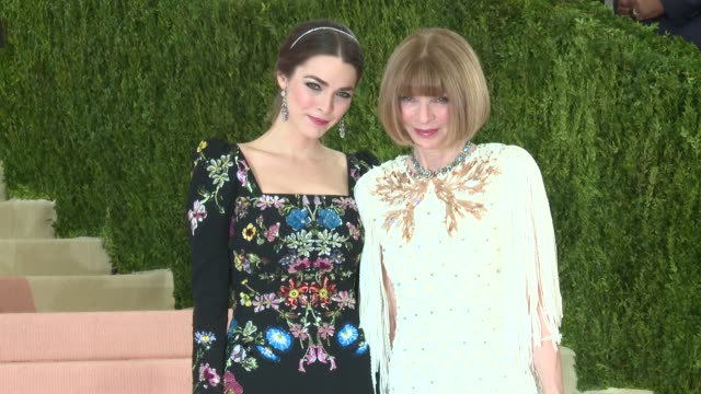 Anna Wintour and Bee Shaffer at Manus x Machina Fashion in an Age of Technology Costume Institute Benefit Gala Arrivals at Metropolitan Museum of Art...