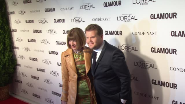 Anna Wintour and James Corden at Glamour Magazine's 24th Annual Women Of The Year Awards at Carnegie Hall on November 10 2014 in New York City